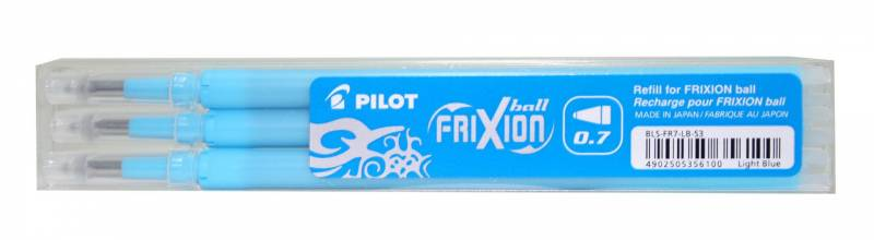 Image of   Refill Pilot Frixion lyseblå medium 3-pack