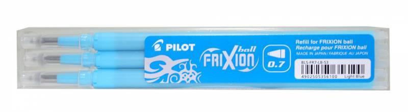 Refill Pilot Frixion lyseblå medium 3-pack