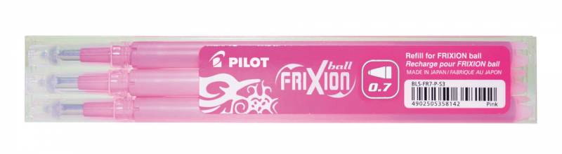 Image of   Refill Pilot Frixion pink medium 3-pack