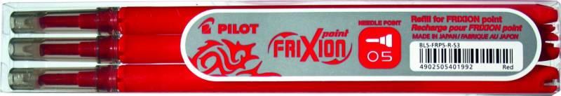 Refill Pilot Frixion rød 0,5 fine 3-pack