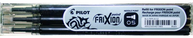 Refill Pilot Frixion sort 0,5 fine 3-pack