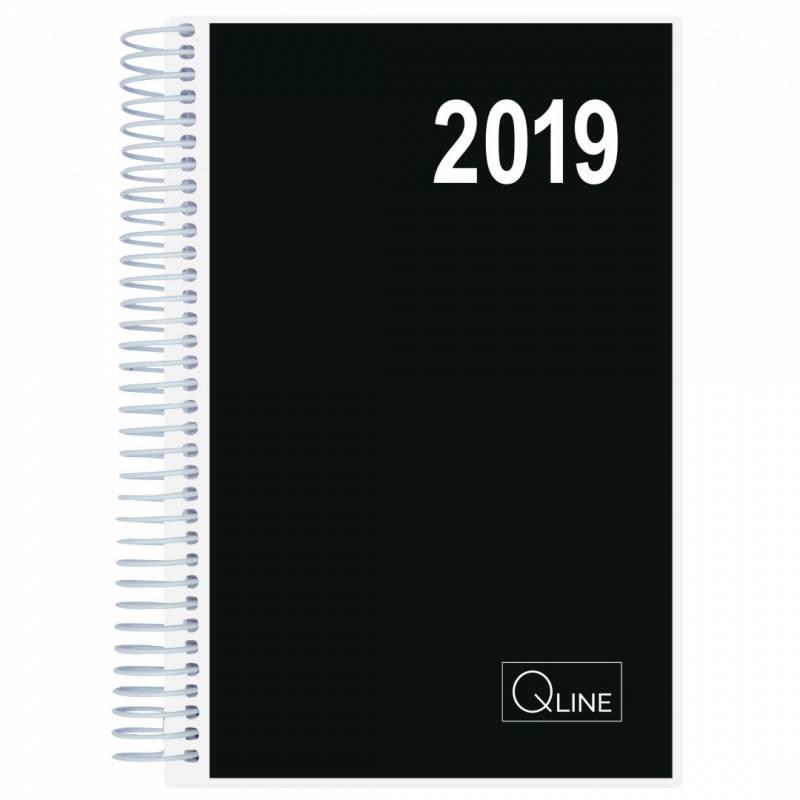 Billede af Spiralkalender Q-line 2019 12x17cm 1dag/side 19 2111 00