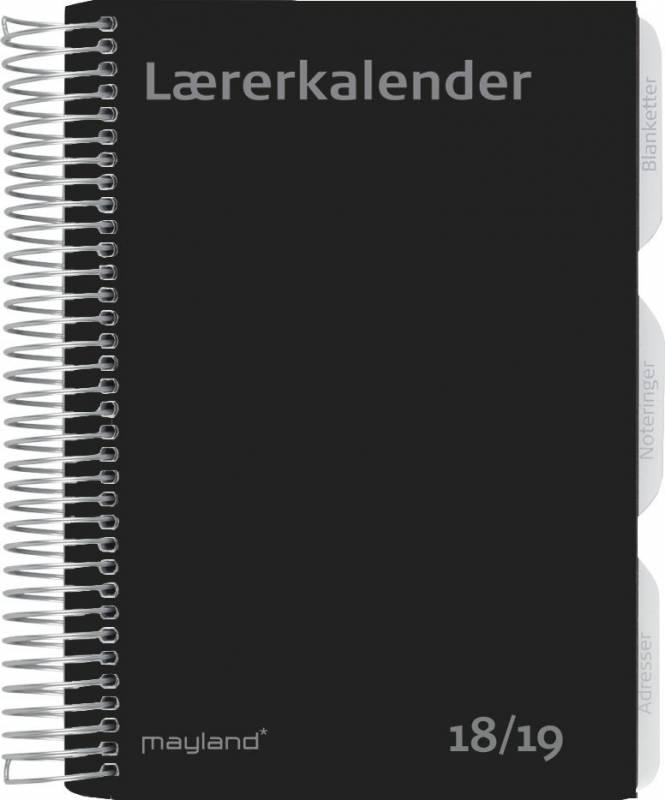 Lærerkalender A5 fiberpap matsort 15x21cm uge højformat 19 8130 00
