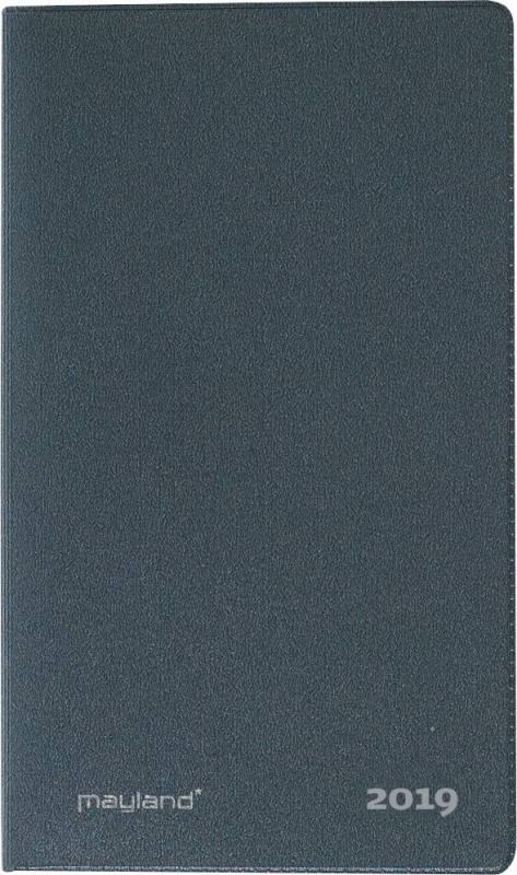 IndexPlanner mini månedskalender vinyl mørk grå 7,6x13cm 19 0710 00