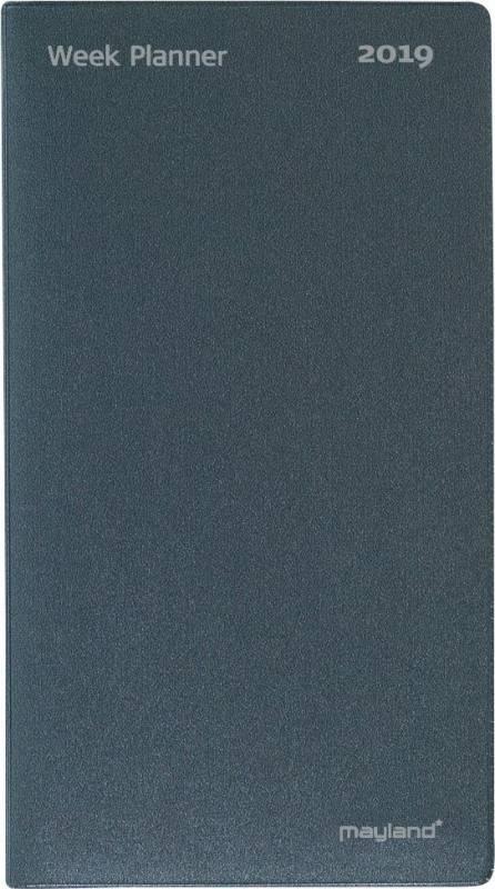 Image of   WeekPlanner uge højformat vinyl mørk grå 9,5x17cm 19 0880 00