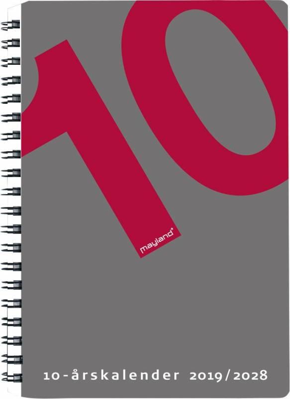 Image of   10-årskalender A5 m/illu. 15x21cm 19 1470 00