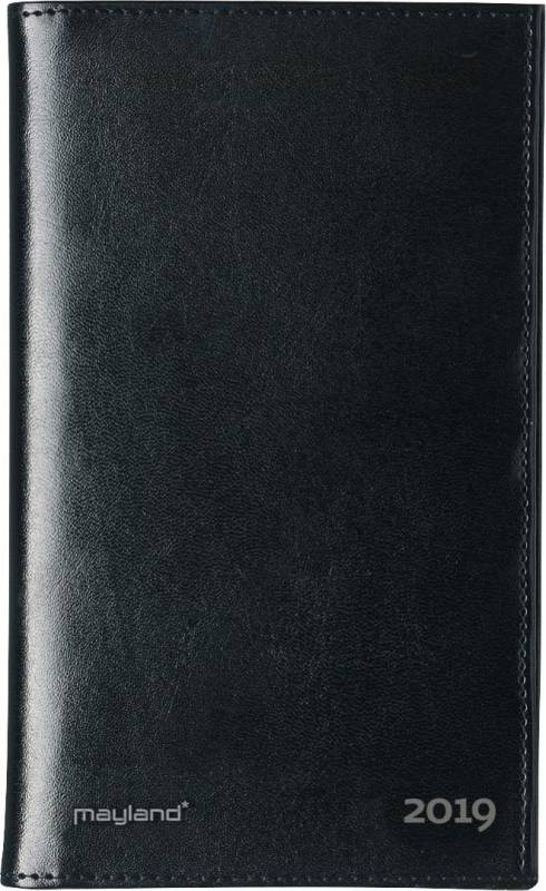 Noteringskalender kunstskind sort 10x16cm 2dage/side 19 1800 00