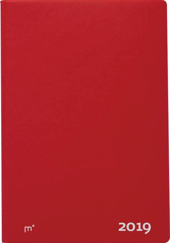 Image of   Ugekalender City Diplomat vinyl rød 17x24,5cm 19 1940 10