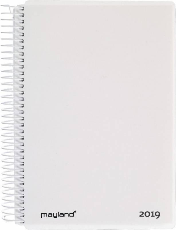 Spiralkalender hård PP hvid 12x17cm 1dage/side 19 2100 10