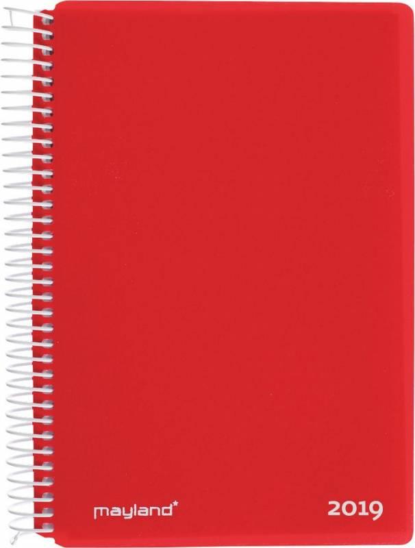 Spiralkalender hård PP rød 12x17cm 1dage/side 19 2100 40
