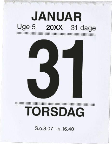 Broderikalender m/split og bagsidetekst 5x6,4cm 19 2410 00