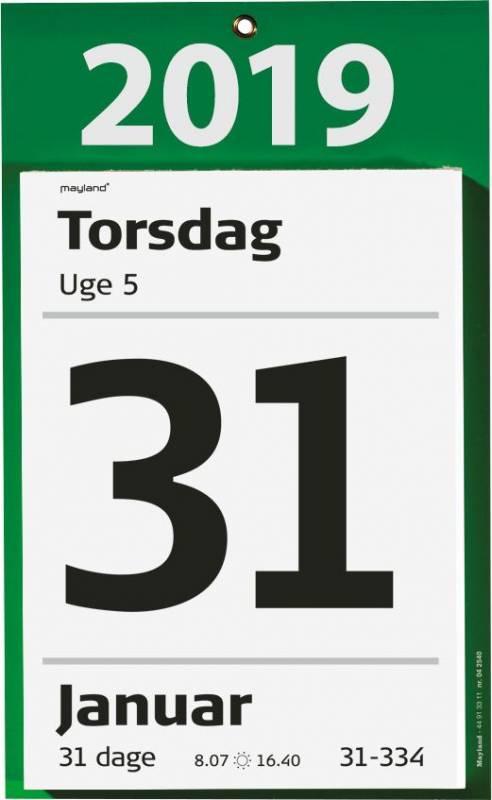 Kæmpeafrivningskalender m/bagsidetekst 16,5x23,5cm 19 2540 00