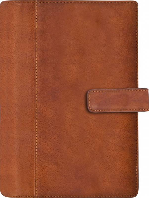Ugekalender System PP skind brun 9,5x17cm højformat 19 2713 00
