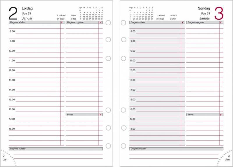 Dagkalender System MM REFILL 12x17cm 19 2850 00