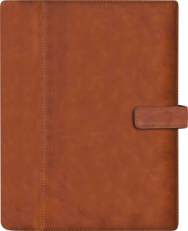 Image of   Ugekalender System A5 skind brun 15x21cm højformat 19 2911 00