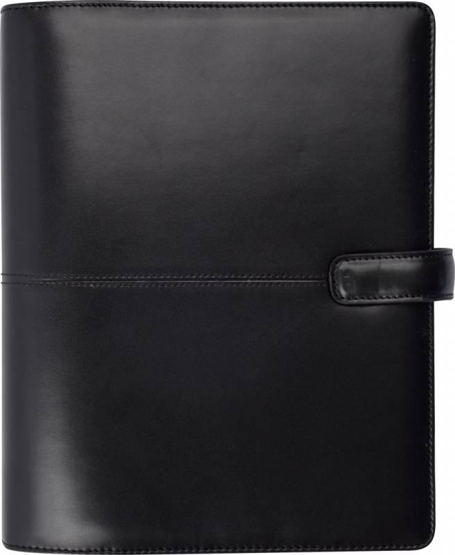 Ugekalender System A5 kunstskind sort 15x21cm højformat 19 2921 10