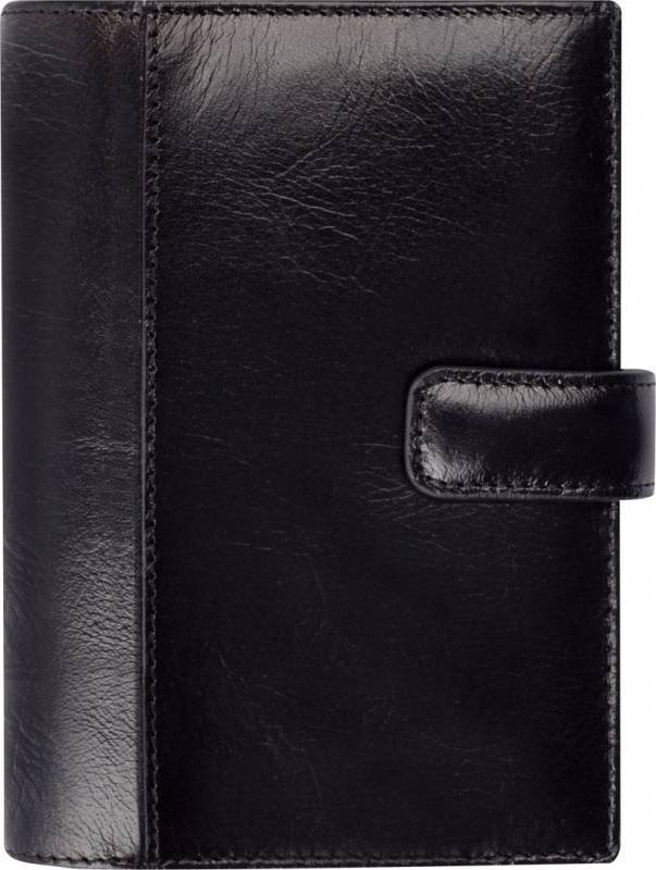Ugekalender System Mini skind sort 8x12,6cm tværformat 19 3511 00