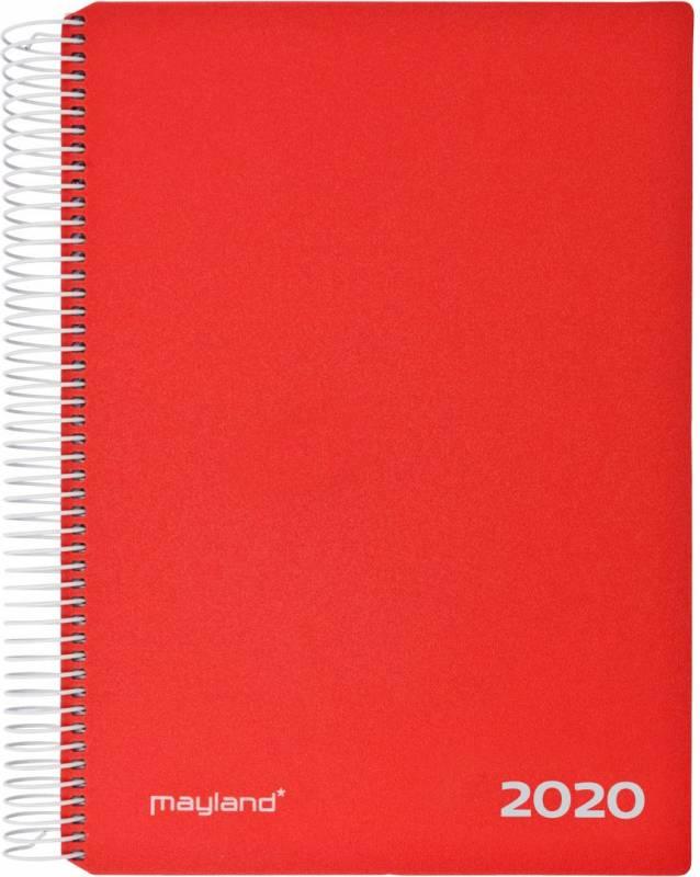 Image of   Timekalender 2020 hård PP rød 17x23,5cm 1dag/side 20 2180 10