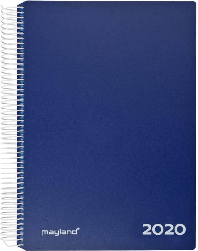 Timekalender 2020 hård PP blå 17x23,5cm 1dag/side 20 2180 20