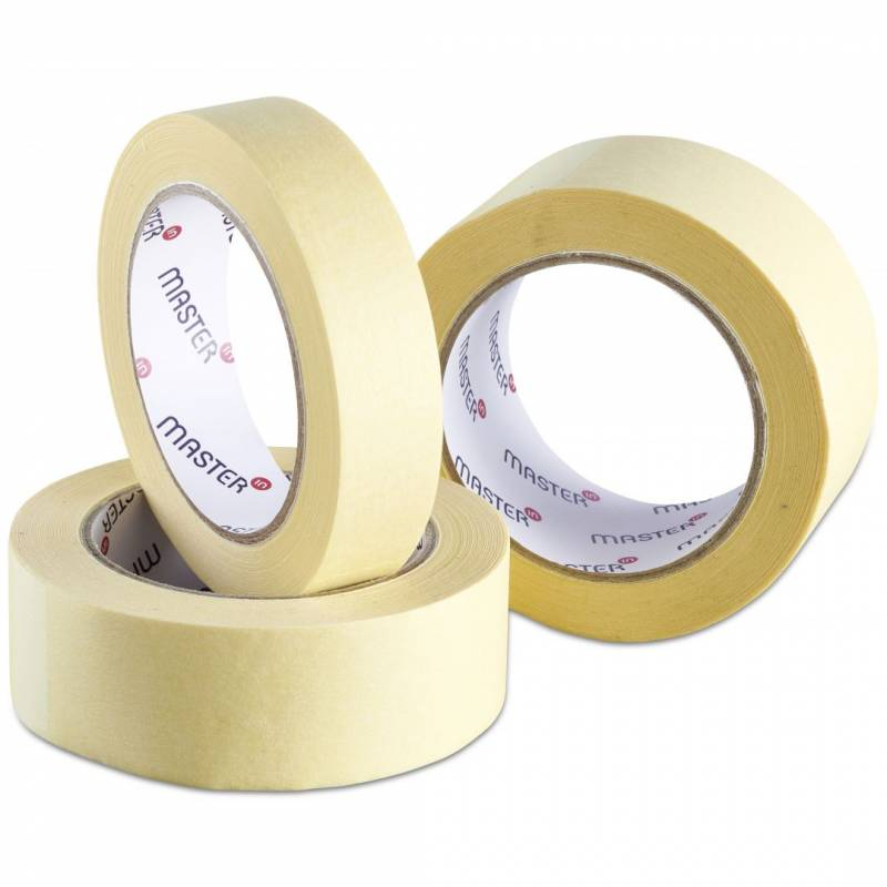 Image of   Tape MasterIn crepe papir gul solvent 38mmx50m