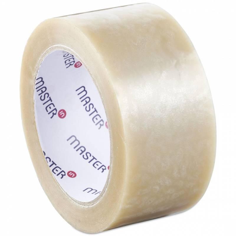 Image of   Tape MasterIn PP35 transparent acrylic 48mmx66m støjsvag ekstra klæb