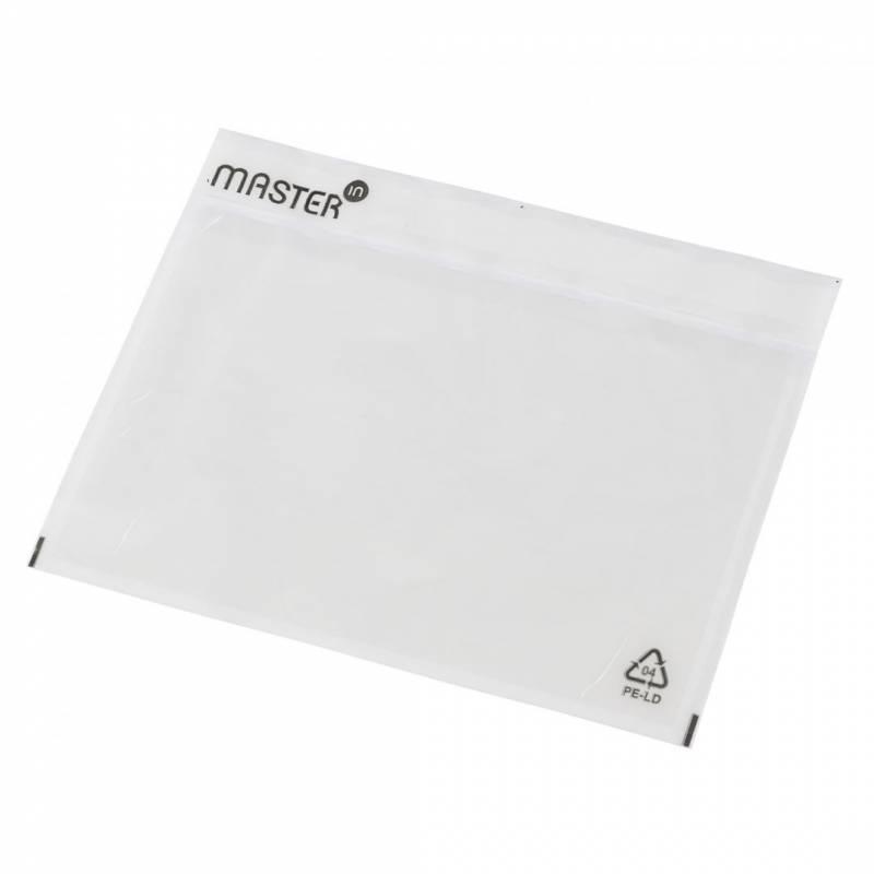Billede af Følgeseddelslomme MasterIn 175X117mm C6 transparent 1000stk/kar 552783