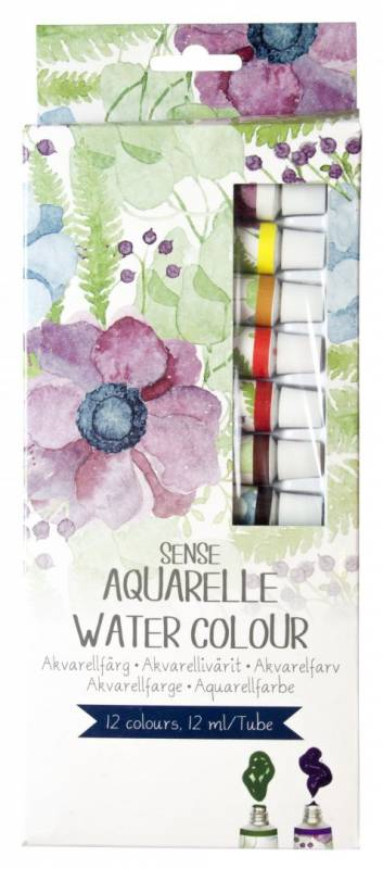 Image of   Akvarel farvesæt Sense Artist ass. 12 tuber a 12ml