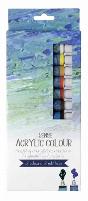 Image of   Akryl farvesæt Sense Artist ass. 12 tuber a 12 ml