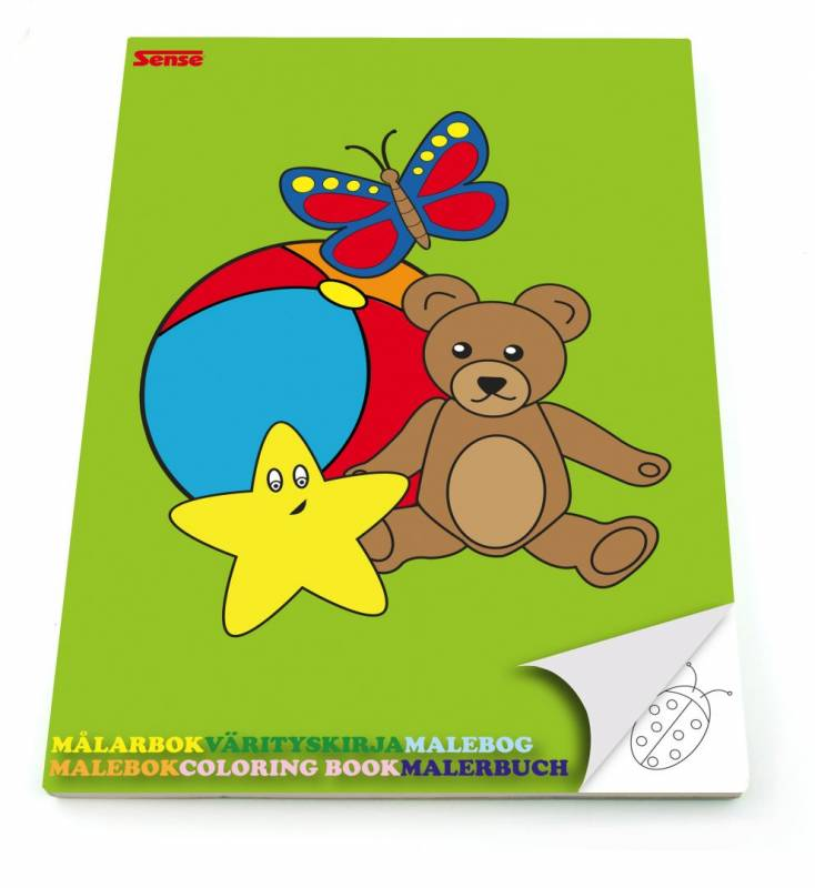 Image of   Malebog Sense m/enkelt billede pr. side 20x27,5cm 36 sider