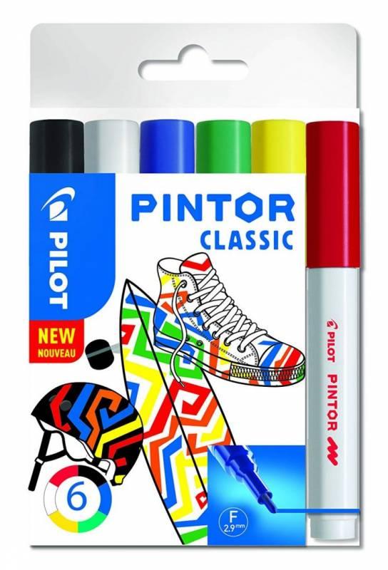 Image of   Marker Pilot Pintor assorteret fine Classic Mix 6stk/pak