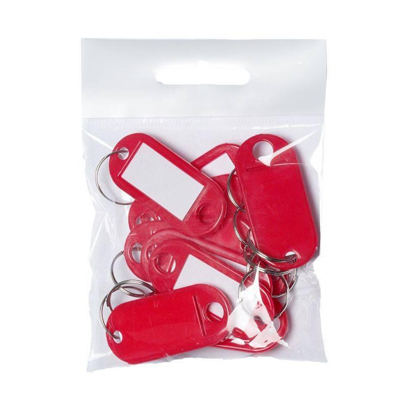 Image of   Nøgleskilte BNT plast PET rød