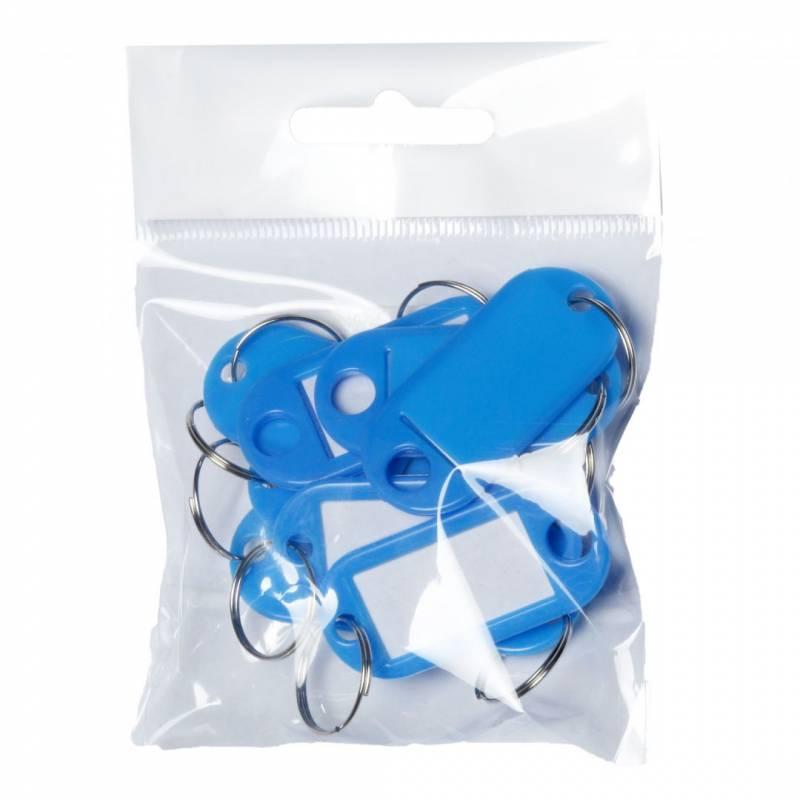 Image of   Nøgleskilte BNT plast PET blå