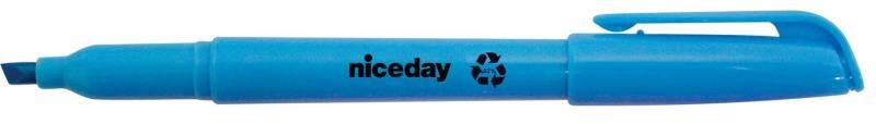 Image of   Tekstmarker niceday blå penneform