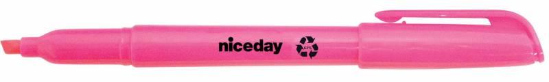 Image of   Tekstmarker niceday rosa penneform