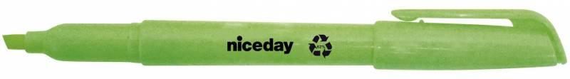 Image of   Tekstmarker niceday grøn penneform