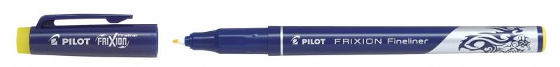 Image of   Fineliner Pilot FriXion gul 1,3mm spids stregbr. 0,45mm