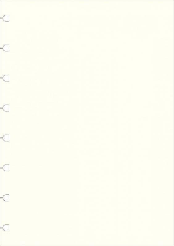 Image of   Kalenderrefill Filofax Notebook A5 ulinieret 100g 32bl/pak