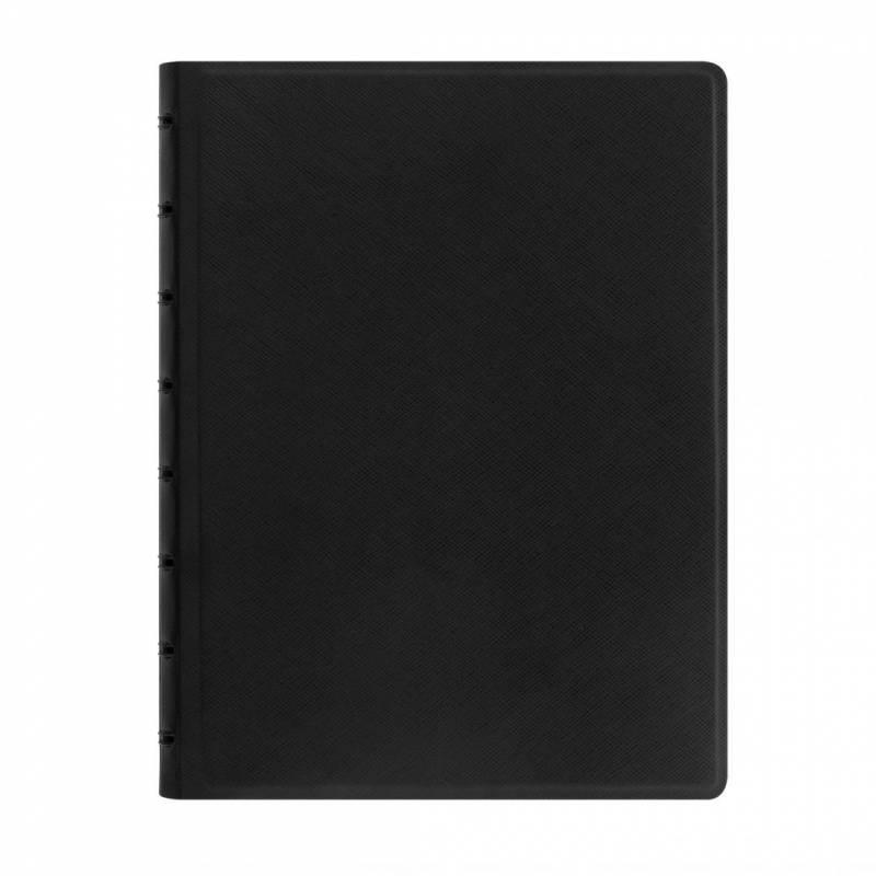 Image of   Notebook Filofax A5 sort incl linierede blade