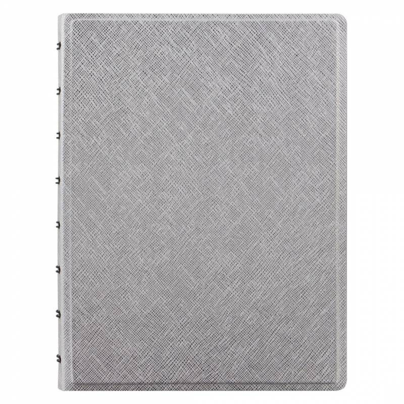 Image of   Notebook Filofax A5 silver incl linierede blade