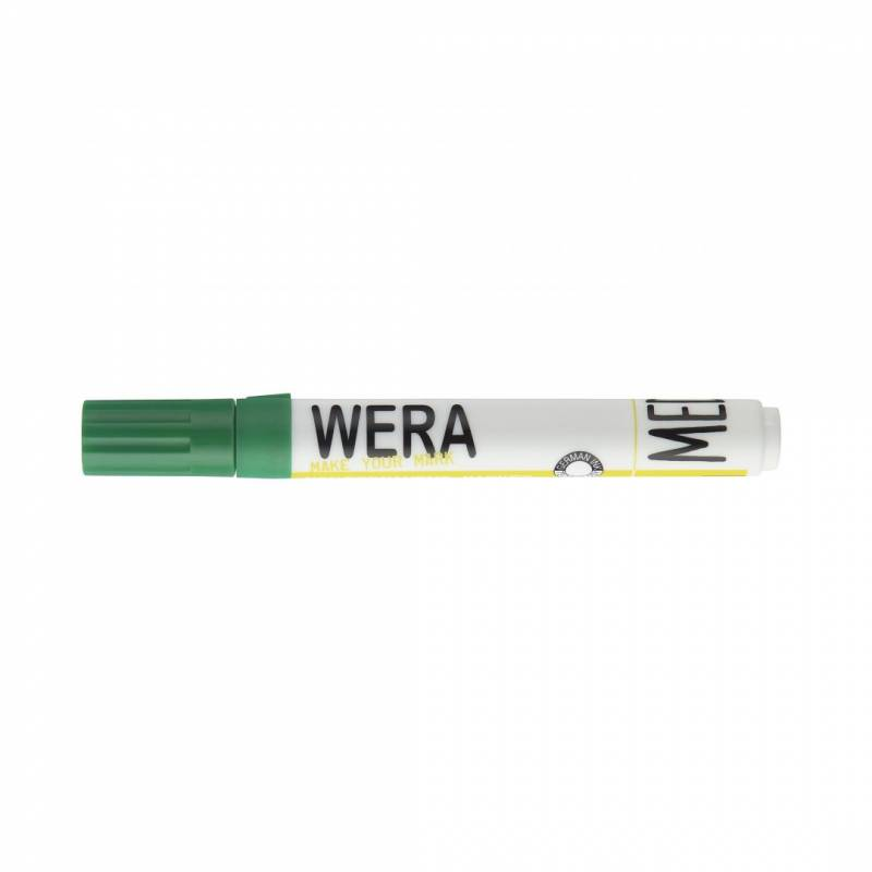 Image of   Whiteboardmarker WERA grøn kantet spids 1-4mm