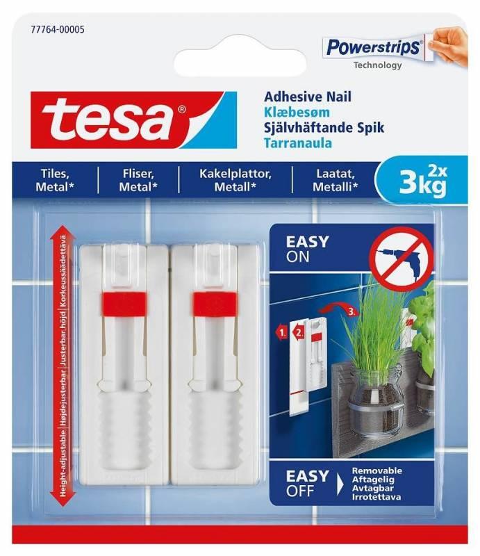 Image of   Klæbesøm tesa t/fliser og metal justerbar 3kg 2stk/pak