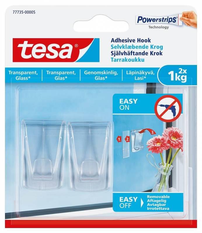 Image of   Klæbekrog tesa Deco t/faste overflader 1kg 2stk/pak