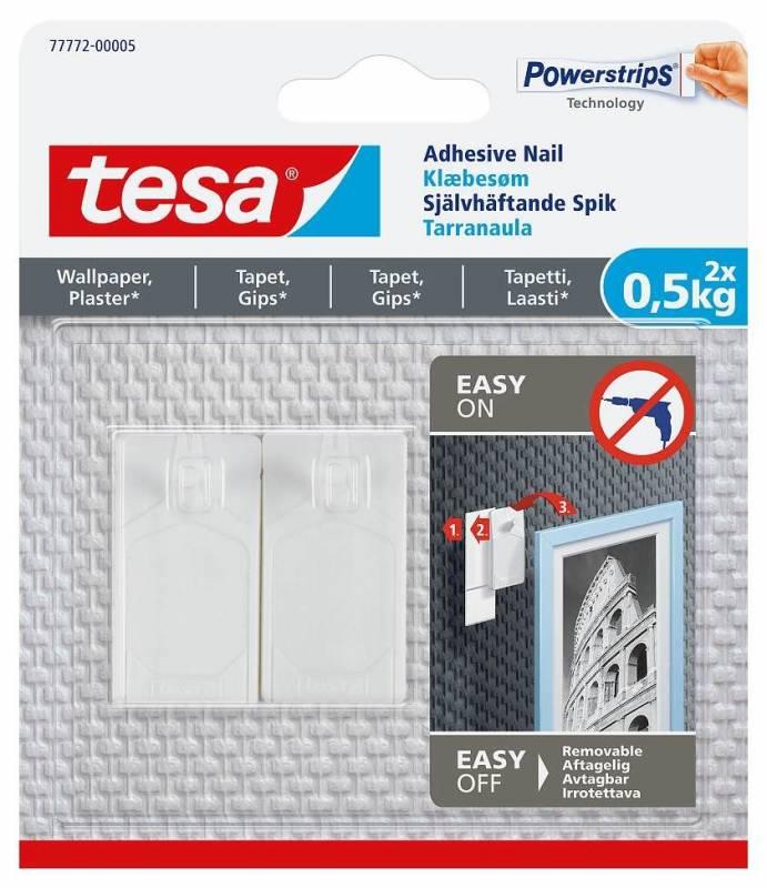 Image of   Klæbesøm tesa t/tapet og gips 0,5kg 2stk/pak
