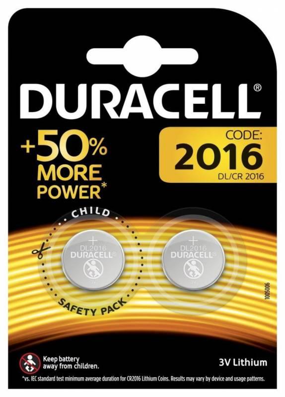 Image of   Batteri litium Duracell Electronics 2016 knapcelle 3V 2-pak