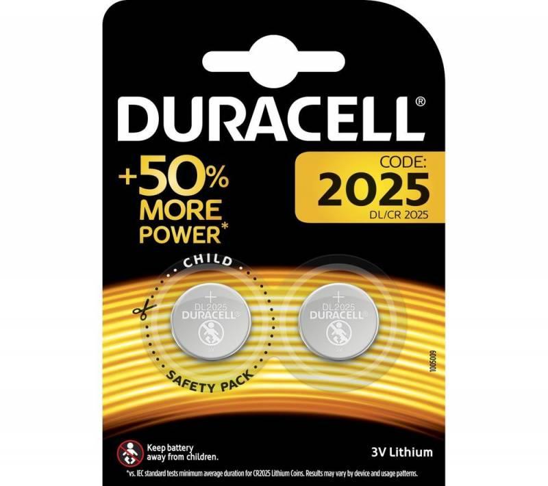 Image of   Batteri litium Duracell Electronics 2025 knapcelle 3V 2-pak