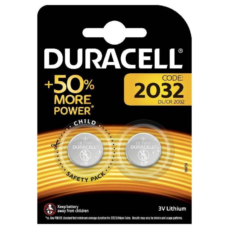 Image of   Batteri litium DuracellElectronics2032 knapcelle 3V 2-pak