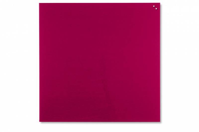 Glastavle Naga magnetisk 1000x1000mm rød