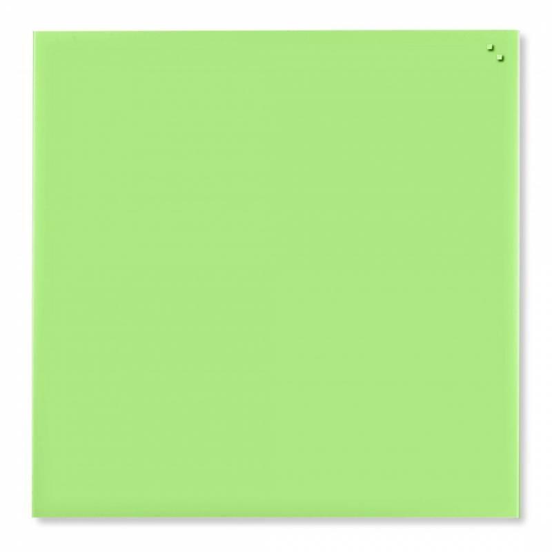 Image of   Glastavle Naga magnetisk 1000x1000mm limegrøn