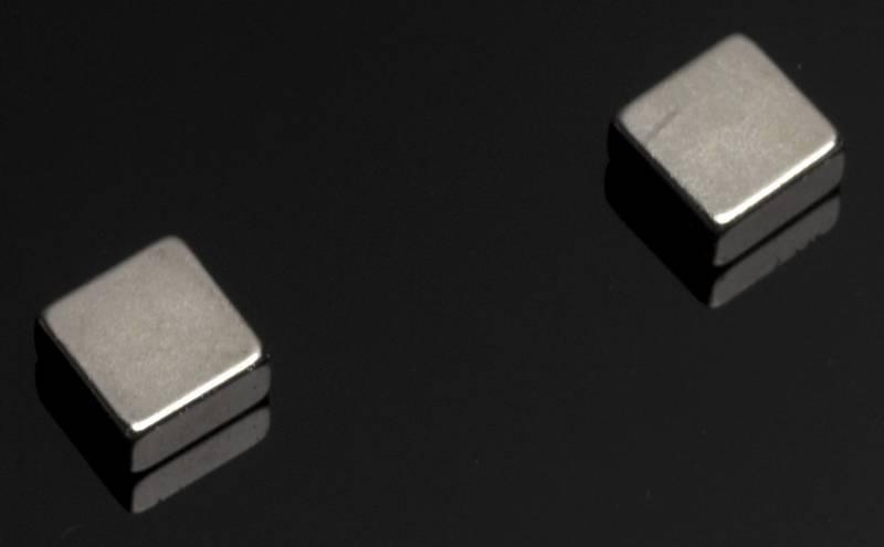 Image of   Magnet t/glastavle stål Super Strong firkantet 6stk/pk