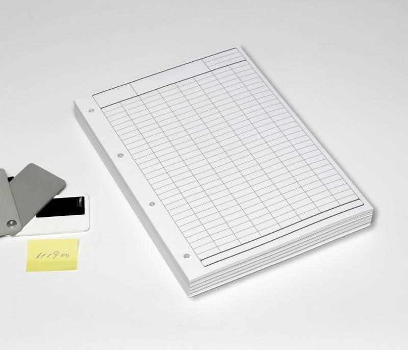Image of   Tabulatorblokke A4 70gr. toplimet 60 blade grå tryk